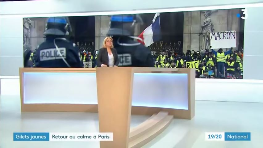Gilets Jaunes Photo de FR3 après la censure