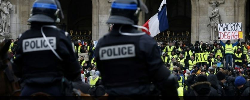Gilets Jaunes Photo de FR3 avant la censure